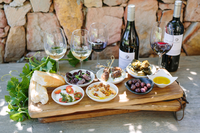 Wine and food offering at Gabrielskloof LR